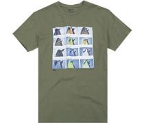 T-Shirt, Core Fit, Baumwolle, olivgrün