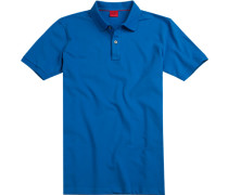 Polo-Shirt Polo Body Fit Baumwoll-Piqué capriblau