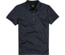 Polo-Shirt Polo Baumwoll-Jersey nachtblau