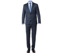 Anzug, Modern Fit, Wolle, rauchblau