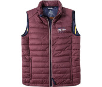 Jacke Steppweste Microfaser Thermore® bordeaux