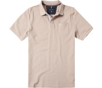 Herren Polo-Shirt Polo Baumwoll-Piqué beige