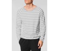 Schlafanzug Longsleeve Baumwolle weiß- gestreift
