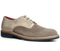 Schuhe Derby Veloursleder cuoio-brizzolato