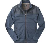 Cardigan Baumwolle dunkelblau- gemustert
