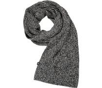 Schal Baumwolle -weiß gemustert