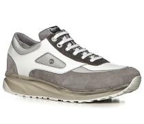 Herren Schuhe Sneaker Leder-Mix grau-weiß grau,grau