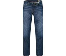 Blue-Jeans Modern Fit Baumwolle dunkelblau