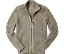 Pullover Caridgan Baumwolle greige