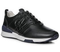 Schuhe Sneaker Kalbleder gewachst black