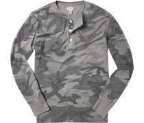 T-Shirt Longsleeve, Baumwolle, camouflage
