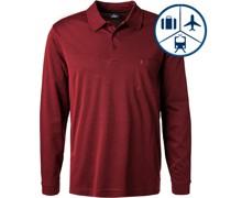 Polo-Shirt Polo Pima Baumwoll-Jersey barolo meliert