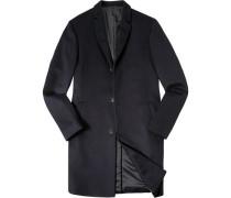 Mantel Parka Wolle-Kaschmir dunkelblau