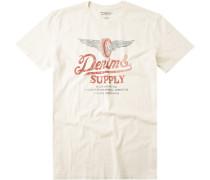 Herren T-Shirt Baumwolle creme weiß
