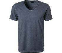 T-Shirt, Baumwolle, graublau