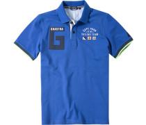 Polo-Shirt Polo Baumwolle kobaltblau