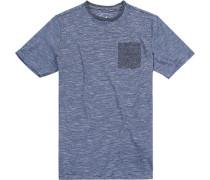 T-Shirt Modern Fit Baumwolle navy-weiß gestreift