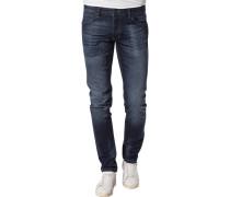 Jeans Slim Fit Baumwoll-Stretch denim