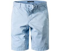 Hose Bermudashorts Regular Fit Baumwolle aqua