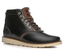 Schuhe Schnürstiefeletten Glattleder -braun