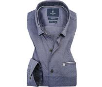 Hemd, Modern Fit, Baumwolle, gemustert