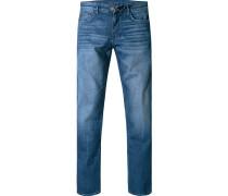 Herren Bluejeans Modern Fit Baumwoll-Stretch indigo blau