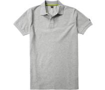 Polo-Shirt Polo, Baumwoll-Piqué, hellgrau meliert