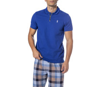 Zip-Shirt Herren, Baumwolle