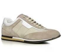 Herren Schuhe Sneaker Textil-Veloursleder-Mix sand beige,weiß
