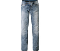 Herren Jeans Regular Fit Baumwoll-Stretch hellblau