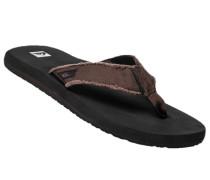 Schuhe Zehensandalen, Canvas, dunkelbraun-schwarz