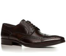 Herren Schuhe Budapester Leder dunkelbraun braun,braun