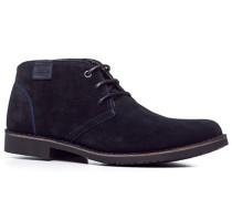Herren Schuhe Desert Boots Veloursleder nachtblau blau,grau
