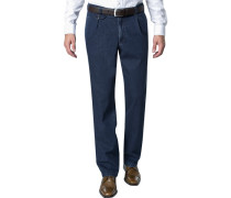 Jeans Chino Perfect Cut Baumwoll-Stretch indigo