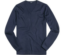Pullover Seide-Baumwolle marine