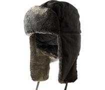 strellson Mütze Baumwolle graugrün