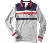 Polo-Shirt Polo Baumwolle -blau