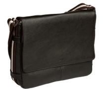 Tasche Messenger Bag, Leder, dunkelbraun