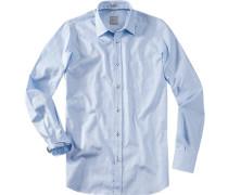 Hemd Modern Fit Baumwolle hellblau