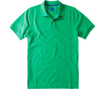 Herren Polo-Shirt Polo Baumwoll-Piqué grün