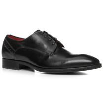 Schuhe Derby, Kalbleder gebrusht, nero