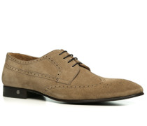Schuhe Budapester, Veloursleder