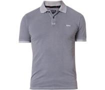 Polo-Shirt Polo Baumwoll-Piqué hellgrau