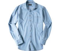 Hemd Modern Fit Jeans hellblau meliert