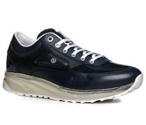 Herren Schuhe Sneaker Kalbleder navy blau,weiß
