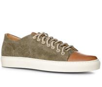 Schuhe Sneaker Textil cognac-olivgrün