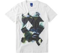 T-Shirt Modern Fit Baumwolle gemustert
