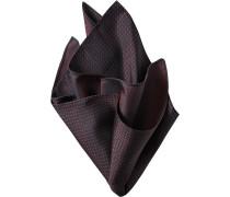 Herren Accessoires  Einstecktuch Microfaser bordeaux-schwarz gemustert rot