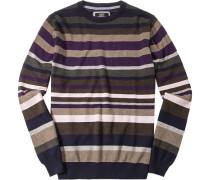 Pullover Baumwolle -braun gestreift
