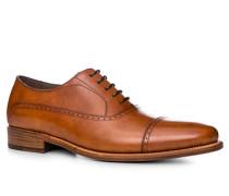 Schuhe Derby Kalbleder cognac